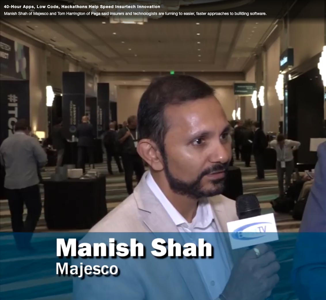 AM Best TV:  40-Hour Apps, Low Code, Hackathons Help Speed Insurtech Innovation  With Manish Shah