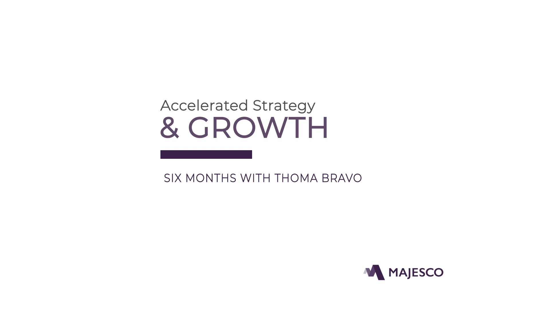 Majesco & Thoma Bravo 6 Month Review